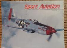 Sport Aviation Magazine December 1991 Sizzlin Liz Grand Champion Warbird
