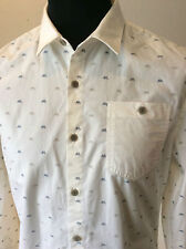 """883 Police ~ white fine pattern cotton l/sleeved fitted shirt ~ size S ~ 38-39"""""""