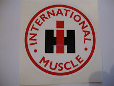 "2 X INTERNATIONAL MUSCLE  STICKERS 4""  TRACTOR 4X4 QUAD FARMERS VEHICLES"