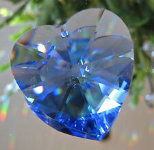 Swarovski Sapphire Blue Heart Prism Ornament, 40mm, Reitred with logo