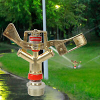 "3/4"" Full Circle 360 Rotary Water Irrigation Sprinkler Garden Lawn Yard Grass"