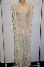 New Jessica Simpson Swimsuit Bikini Cover Up Maci Lace Dress sz M Vanilla