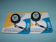ECO by Dr Slick 2 Reels Pin-On 8 Ring Black Fly Fishing Reel Zinger ERIB8