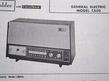 General Electric C530 Radio Receiver Photofact