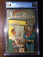 Superman's Pal Jimmy Olsen #1 (1954) - Premiere Issue! - CGC 1.8! - Golden Age!