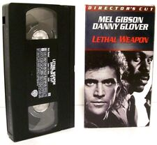 """LETHAL WEAPON (1987)"" Director Cut VHS 1998 Fullscreen MEL GIBSON, DANNY GLOVER"