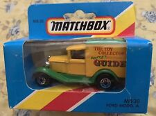 Matchbox MB 38 Ford Model A Pocket Guide Toy Collectible 1981 Blue Box New Box 1