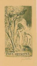 Ex libris Erotic Lithograph Exlibris by MAHELKA JINDRICH (1919-1990)Cz