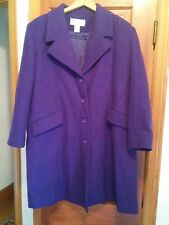 000 Woman's Jessica London Purple Long Wool Coat Size 16 WP