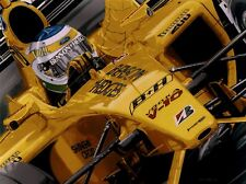 Giancarlo Fisichella 90 x 70 cms limited edition F1 art print by Colin Carter