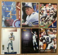 Troy Aikman LOT of 6 insert base cards NM+ 1991-1996 HOF QB Dallas Cowboys U64