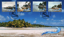 Tokelau 2018 FDC Seawalls 4v Set Cover Tourism Landscapes Palm Trees Stamps