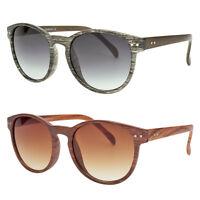 Wood PRINT Oliver Vintage Fashion Round Circle Key Hole Bridge Sunglasses