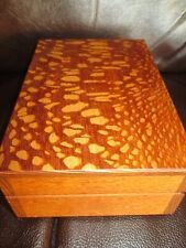 Cherry Geff House Wooden Jewelry Valet Organizer Gift Box