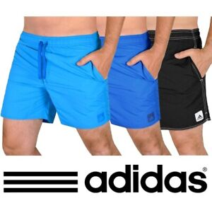 Adidas Solid Swim Shorts Men's Children's Trousers Vsl Black Blue