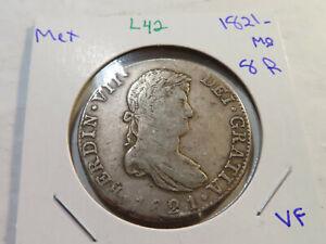 L42 Mexico 1821-Mo 8 Reales VF