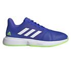 adidas CourtJam Bounce Men's Tennis Shoe Sonic Blue/White/Neon Green