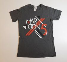 Maroon 5 Adam Levine 2014 European Concert Tour T Shirt Small (S) Gray