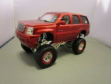 JADA 1/24 HIGH PROFILE CANDY RED 2002 CADILLAC ESCALADE *ISSUE* USED NO BOX