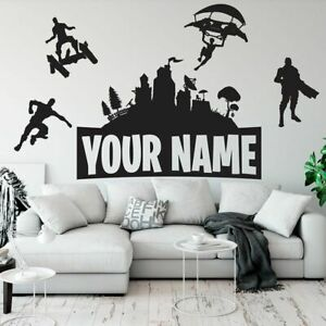 Gamer Poster Personalized Name Wall Sticker Teenager Video Game Wall Decal