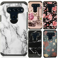 For LG V40 ThinQ Astronoot Hybrid Rubber Silicone Case Phone Cover Accessory