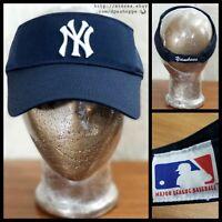 NEW MLB NEW YORK YANKEES BASEBALL NAVY BLUE SUN VISOR CAP HAT BY OC OUTDOOR ADJ.