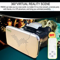 RIEM 3 Virtual Reality VR Box Headset 3D IMAX Video Glasses For iPhone Samsung