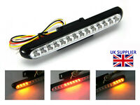Motorcycle LED Stop Tail Light with Indicators - BLACK - Custom Project BRIGHT