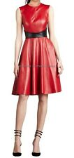 Spring Designer Lamb New Leather Women Dress Cocktail Stylish Party Wear  D-009