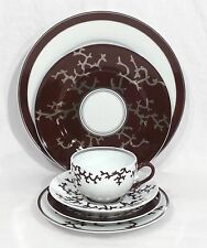 Raynaud Limoges Porcelain Cristobal Chocolate 6pc Place Setting Made in France