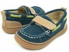 NIB LIVIE & LUCA Boat Shoes North Navy Suede 11