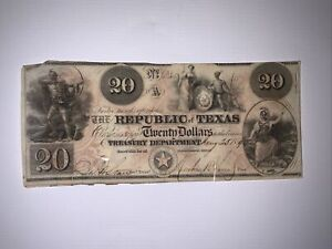 1840 Republic of Texas (Jan. 25, 1840) - $20 Note No.6349