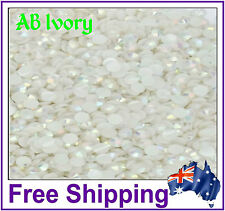 Rhinestones Resin FB 4mm ~ AB Ivory ~ 500 Pack By Gypsy Bling ~ Free Post