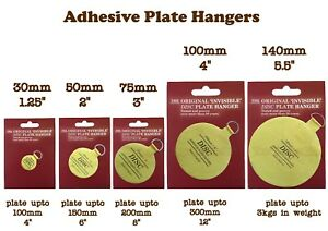 Self Adhesive Sticky Invisible Display Plate Disk Dish Hanging Holder Hanger