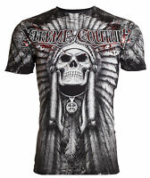 Xtreme Couture AFFLICTION Mens T-Shirt PALA Skull Indian Biker MMA UFC S-3XL $40