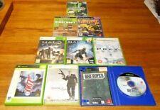 XBOX VIDEO GAMES X 9, MINECRAFT,BAD BOYS II,007 x 2,HALO x 2,PREY,FOOT MAN 2007