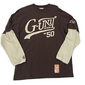 Vintage G-Unit 50 Block Pride Long Sleeve Graphic Tee Flannel Undersleeve - XL