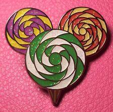DISNEY PIN - MICKEY MOUSE Head Ears Icon Swirly Glittery Lollipop First Release