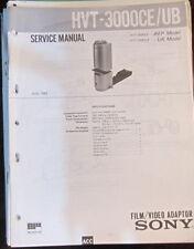 Sony HVT-3000CE/UB film adapter service repair workshop manual (original copy)