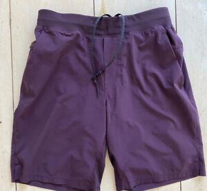"NICE Lululemon T.H.E. Lined Shorts Plum / Purple 9"" Size Medium Pockets"