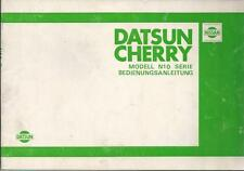 NISSAN DATSUN CHERRY Betriebsanleitung 1980 Bedienungsanleitung N10 Handbuch BA