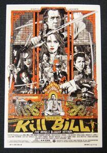SDCC Comic Con 2012 EXCLUSIVE MONDO Kill Bill lobby card RARE HTF Tyler Stout