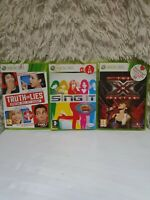 Xbox 360 Game Bundle Job Lot 3 Microphone  Games X factor- Sing
