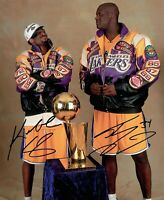 Kobe and Shaq 3 Peat Iconic Signed Print 8x10 auto SWEET! Signed Reprint Lakers