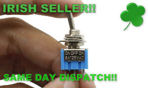 3 Position 3-Pin SPDT ON-OFF-ON 6A 125V 3A 250VAC Miniature Mini Toggle Switch