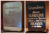 Personalised Tea Light Candle Holder Christmas Gift Memorial Grandma Mum Dad