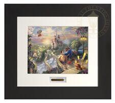 Thomas Kinkade Beauty and the Beast 11 x 14 Home Collection (Espresso Frame)