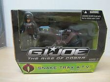 G.I JOE COBRA ROC RISE OF COBRA SNAKE TRAX ATV 4X4 FERRET COMPLETE W/ SCRAP IRON