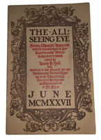 THE ALL-SEEING EYE, MANLY P HALL, VOLUME 4, No 2, 1927, OCCULT, MAGIC, MYSTICISM