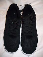 Men's Walmart Brand Lace Up Shoe Black Mesh Size 7.5 NEW  Skater Shoes